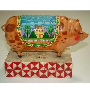 Other - Jim Shore Heartwood Creek Pig Figurine 2003 Enesco